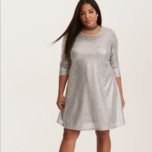 Nwt Torrid Size 4 shimmer ribbed dress